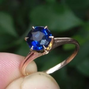 Jewelry - Antique Blue Spinel and Rose Gold Ring Size 6